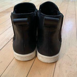 Black Leather Slip On Shoes Loeffler Randall